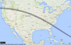 Path of totality map