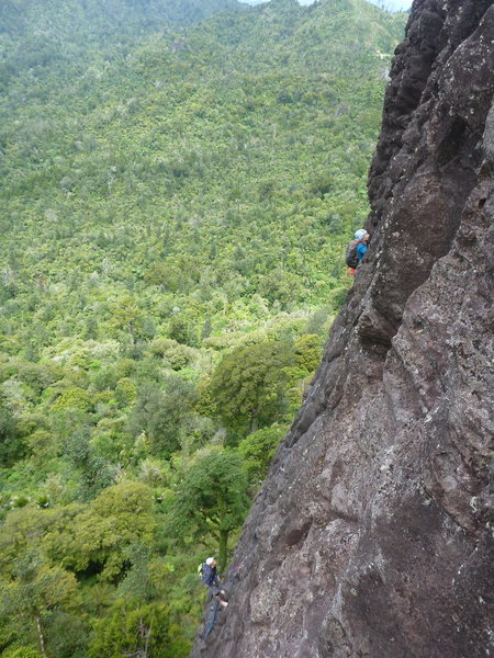Rock Climbing Photo: Climber on Quiet Earth Wall