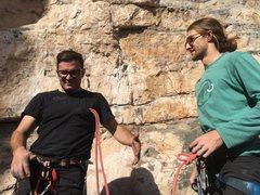 Rock Climbing Photo: Hubert demonstrates some advanced belay techniques...