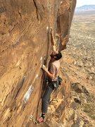 Rock Climbing Photo: Derrick sticks the pocket on the send