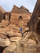Rock Climbing Photo: Derrick on his onsight