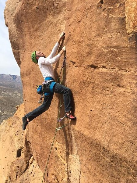 Rock Climbing Photo: Me getting the pain on. Lots of hangdog here