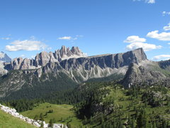 Rock Climbing Photo: Croda da Lago in the distance behind the Lastoi ri...