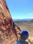 Rock Climbing Photo: Pitch 2 traverse