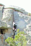 Rock Climbing Photo: Karen, in the jamcrack.