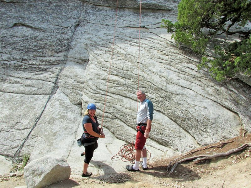 Rock Climbing Photo: Karen and RKM.