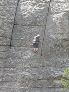 Rock Climbing Photo: Karen on Pure Pleasure, 5.6.