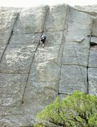 Rock Climbing Photo: Halfway up the crack system.