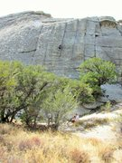 Rock Climbing Photo: Lowering from Fun Stuff.