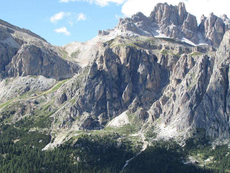 Rock Climbing Photo: Area of the Falzarego Towers and Punta Alpini, dow...