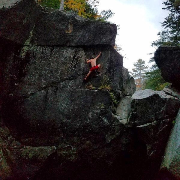 Rock Climbing Photo: Making the deadpoint to the crimp rail