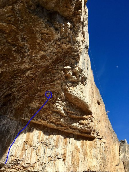 Rock Climbing Photo: End at the midway anchor. Fairly powerful