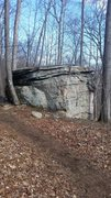 Rock Climbing Photo: A picture of Pancake boulder as seen from the &quo...