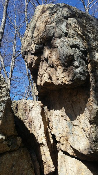 Rock Climbing Photo: looking into the other side of the crevasse from t...