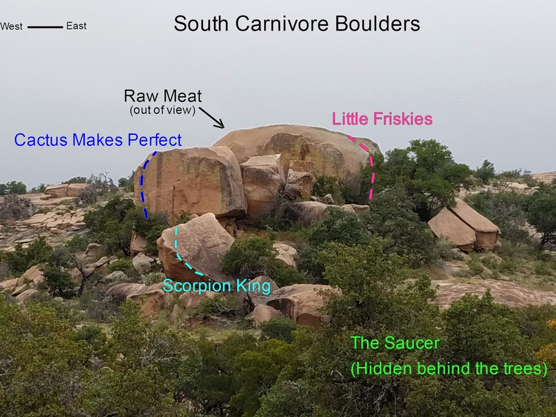 Rock Climbing Photo: South Carnivore Boulders
