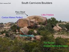 Rock Climbing Photo: South Carnivore Boulders