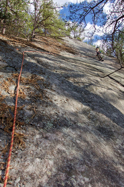 Rock Climbing Photo: Just after the crux on the Adam Kopley Memorial Ro...