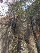 Rock Climbing Photo: Left Face at Dihedral.