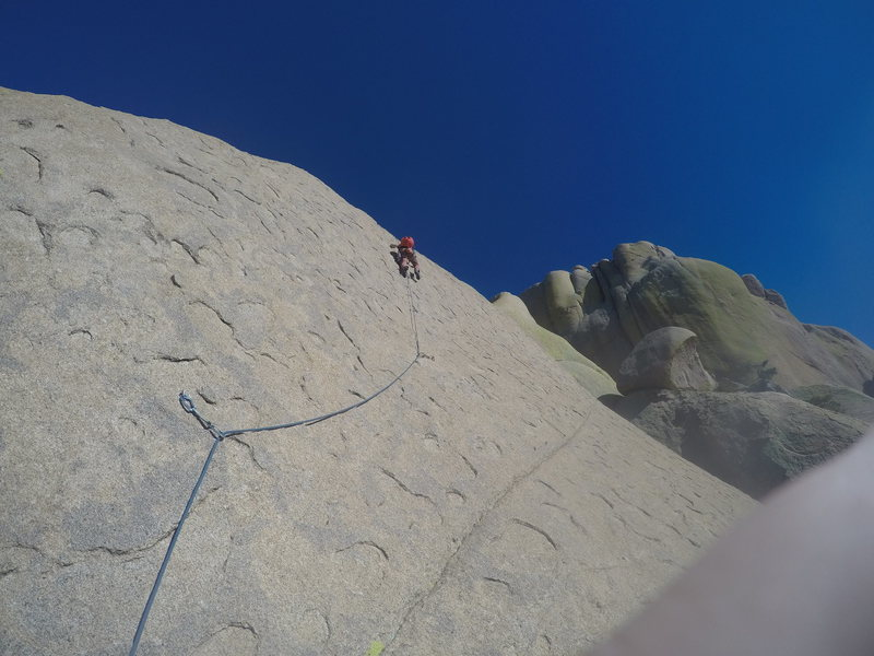 Daniel Joannes questing up the fourth pitch of endgame