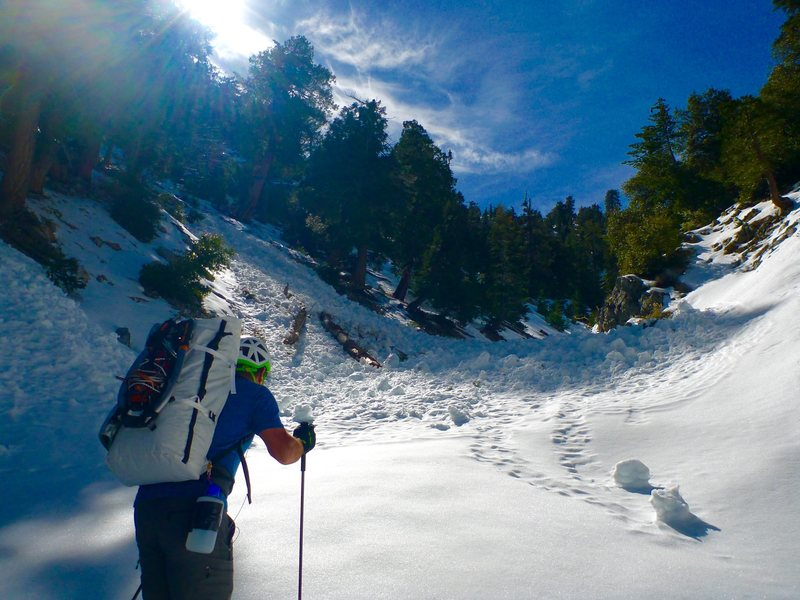 Icehouse canyon bowling alley<br> Always check avy conditions before heading up <br> Photo by Steven Lee