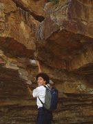 Rock Climbing Photo: S Matz at base of Puppy Ride - Nov 2005