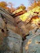 "Rock Climbing Photo: Sunset Light on ""Prerequisite"""