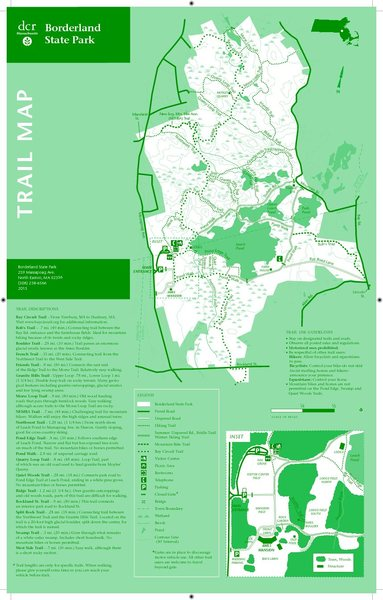 New map of the park from DCR which shows the location of the Ames Boulder.