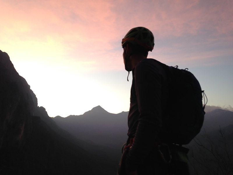 Rock Climbing Photo: Sunrise on Time Wave Zero