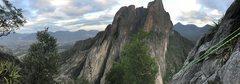 Rock Climbing Photo: Rapping down Yankee Clipper