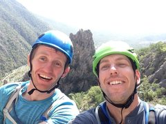 Rock Climbing Photo: Henry and I rapping TWZ