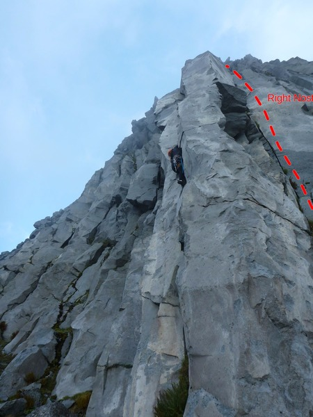 Right Nostril (climber on Left Nostril)