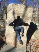 Rock Climbing Photo: Luis on Crooked Tooth.
