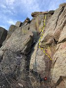 Rock Climbing Photo: The route minus the start.