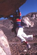 Rock Climbing Photo: 2nd ascent, Charlie Fowler (RIP)