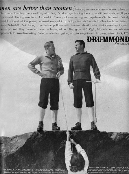 Drummond Sweaters featured in Esquire Magazine (1959)