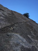 Rock Climbing Photo: Some of the second pitch of Hanging Gardens.