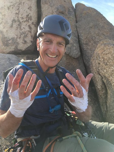 Rock Climbing Photo: my dad celebrating getting to the top on his first...
