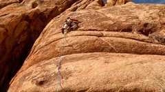 Rock Climbing Photo: Cleaning The Sand Donkey after a fun lead