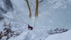 Rock Climbing Photo: Constance crushing it on the top of pitch 1. The f...