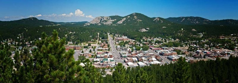 The Town Of Custer South Dakota