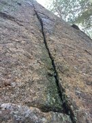 Rock Climbing Photo: A close up of the crack in the Small Wall.