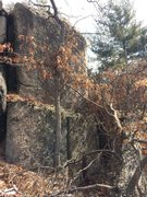 Rock Climbing Photo: Bow Ridge 06. Proud, tall arete with a downed tree...