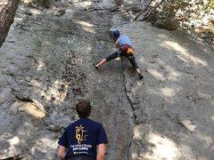 Rock Climbing Photo: Max and me climbing Greenback.