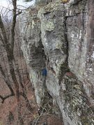 Rock Climbing Photo: Climber on Hidden Treasure as viewed from Cackling...