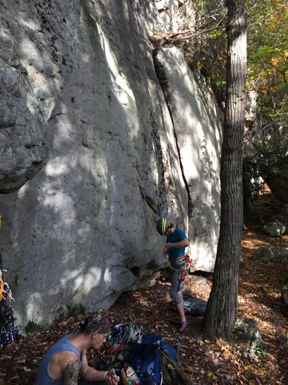 """Rock Climbing Photo: Greenback Wall with the obvious flake """"Greenb..."""