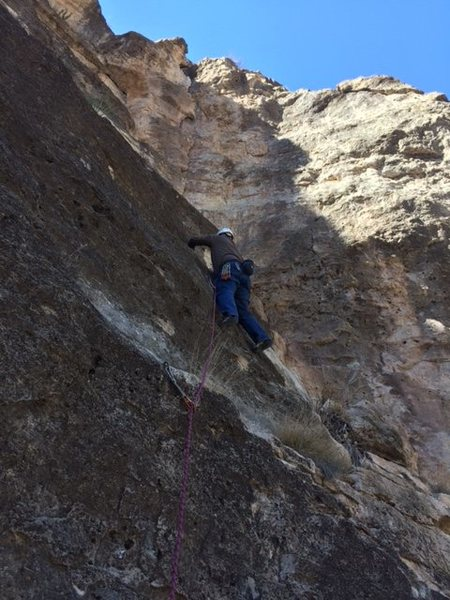 Start of Frosted Flakes- comes into the crack from the left. Great climb!