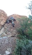 Rock Climbing Photo: here's my dad leading Pony Express as a cool d...