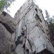 Rock Climbing Photo: crucifix top rope setup. You can take the crack sy...
