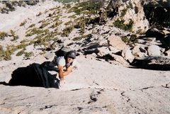 """Rock Climbing Photo: The late Walter Hawkins on the FA of """"The Bac..."""