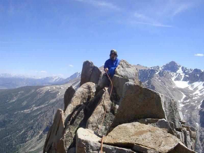 Ed Hartouni on the summit of the North Warren Tower
